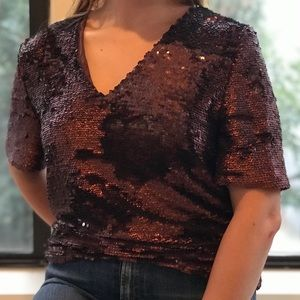 Topshop sequin top